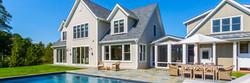 Porch design on Custom Home