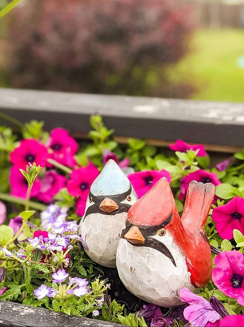 Folk Style Wooden Bird