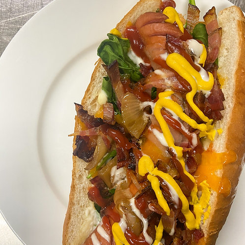 Hot Dog on a Bun - Loaded Toppings