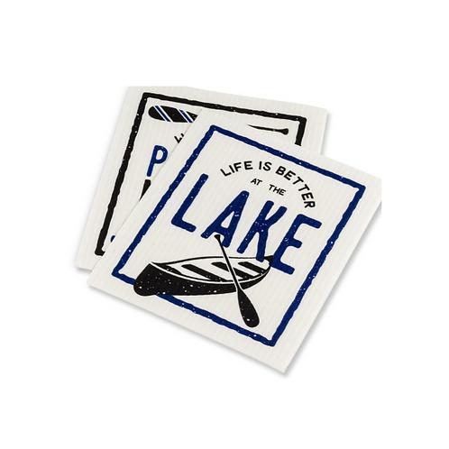 Life is Better at the Lake Swedish Dish Cloth