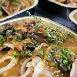 Cooked & Sliced Roast Beef in Gravy