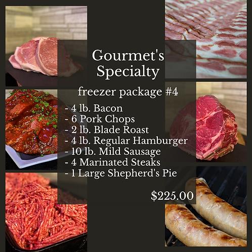Gourmet's Specialty Freezer Package