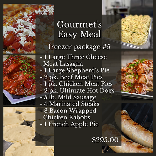 Gourmet's Easy Meal Freezer Package