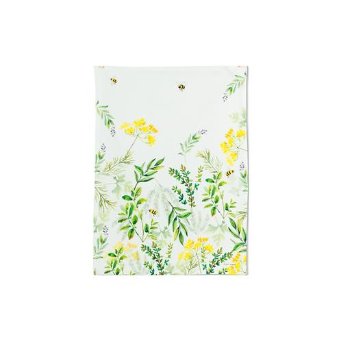 Yellow Garden Tea Towel