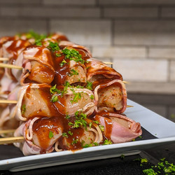 Bacon Wrapped Chicken Kabob