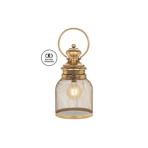 Squat Mesh LED Lantern