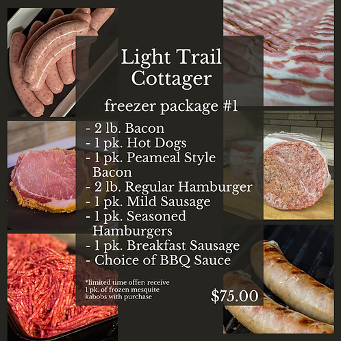 Light Trail Cottager Freezer Package