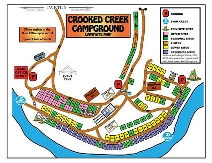 Crooked Creek Campground Map