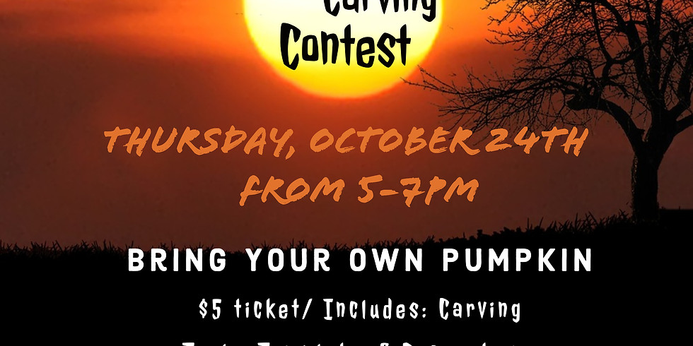 Pumpkin Carving Contest with Green Owl Design