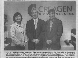 C2I CreaGen Life Science Incubator Offers Tour of Facility to Officials