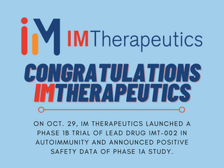 IM Therapeutics, tenant of C2I, launches Phase 1b Trial of Lead Drug IMT-002