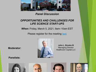 Opportunities and Challenges for Life Science Start-Ups Webinar