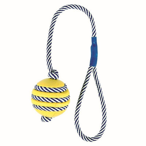 Trixie Ball with phosphorescent rope 5cm/40cm