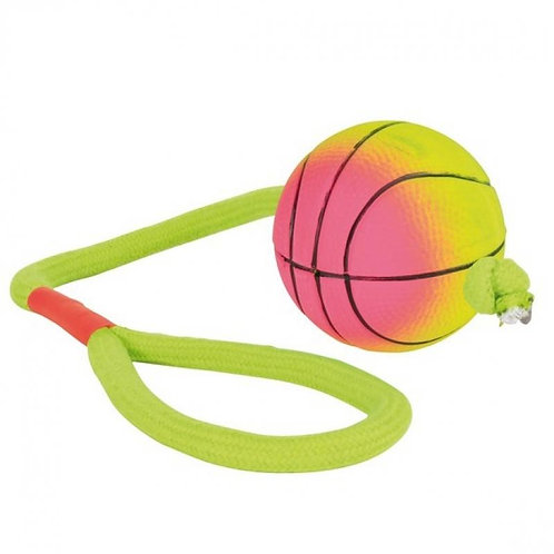 Trixie Neon Balls on a Rope, Foam Rubber, Floatable Dog Puppy Pets Fetch Play 6c