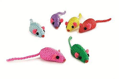 Beeztees Colorful Mouses 5cm 9pcs/bag