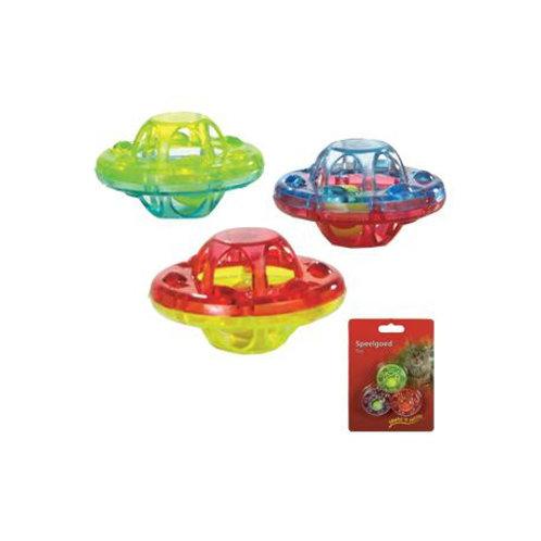 Beeztees Ratlte UFO Cat Toy 4cm 3pcs/bag