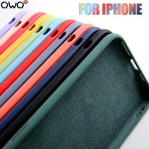 Original Liquid Silicone Luxury Case for Apple iPhone 11 12 Pro Max Mini 7 8 6