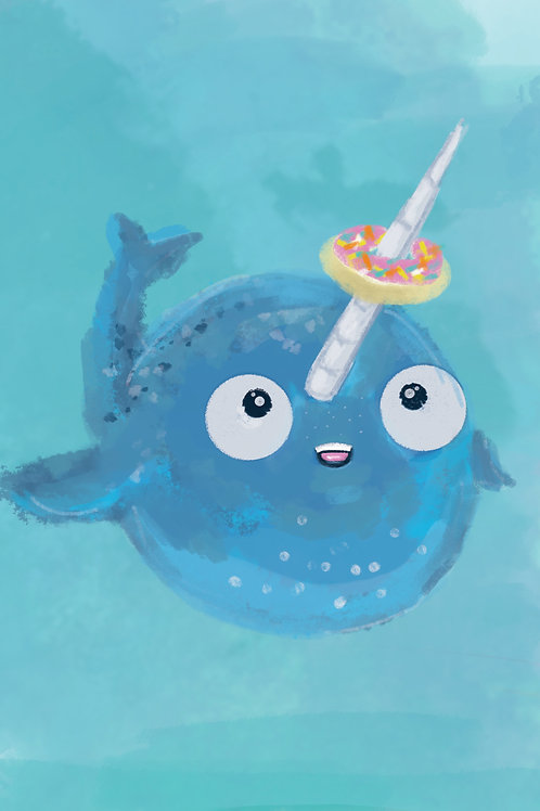 5x7 Donut Narwhal