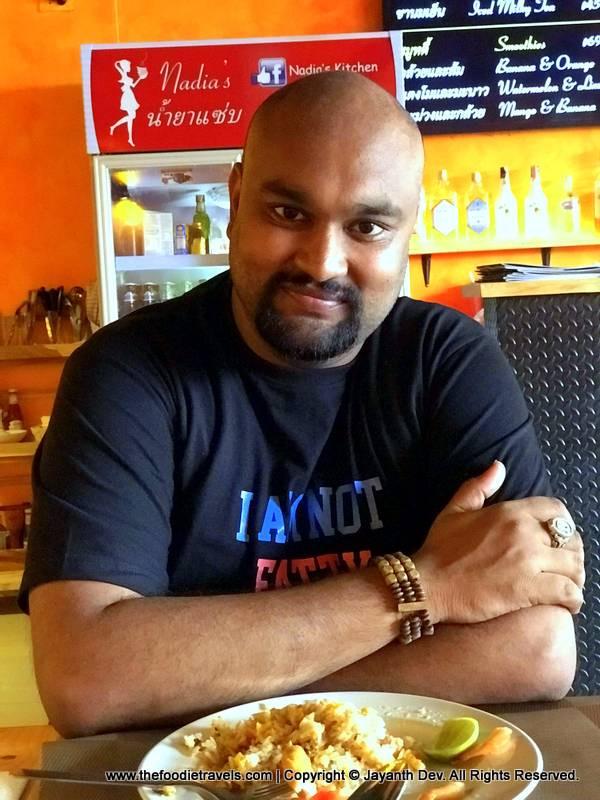 Jayanth Dev aka Guruji Foodie at Nadia's Kitchen, Pattaya