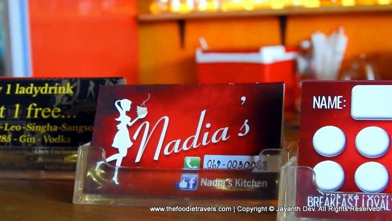 Nadia's Kitchen, Pattaya