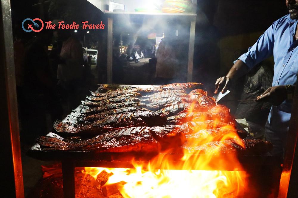 Bengaluru Street Food, Madhan Fish Tawa Fry in Banashankari