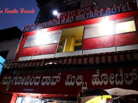 New Govinda Rao Military Hotel Review   Bangalore's Oldest Restaurant