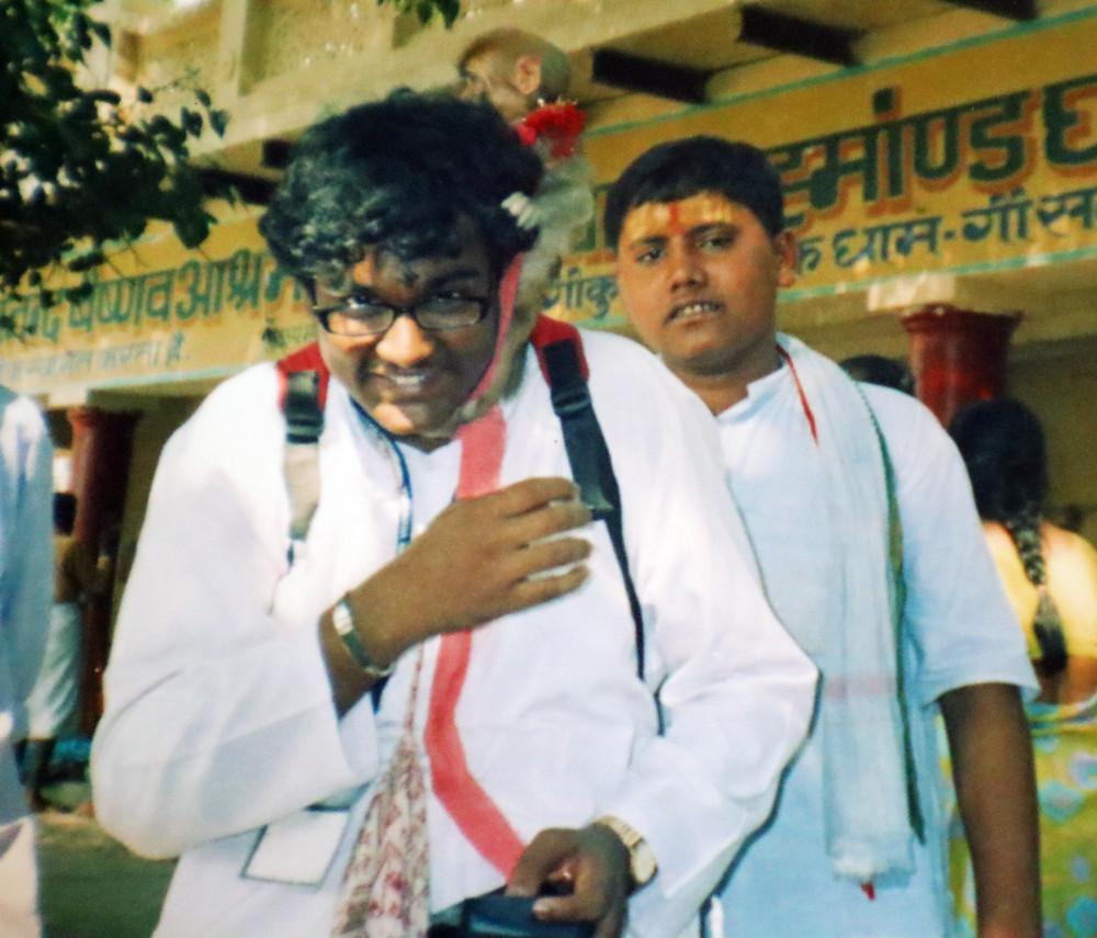 Jayanth Dev aka Guruji Foodie first solo trip to vrindavan