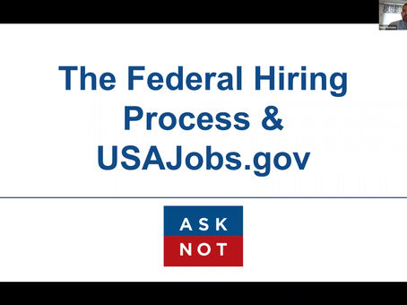 Webinar: The Federal Hiring Process & USAJobs.gov