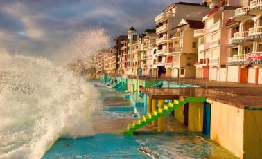 Houses on Black Sea shore