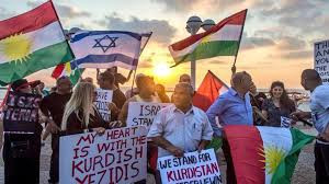 Kurdish flags in Israel