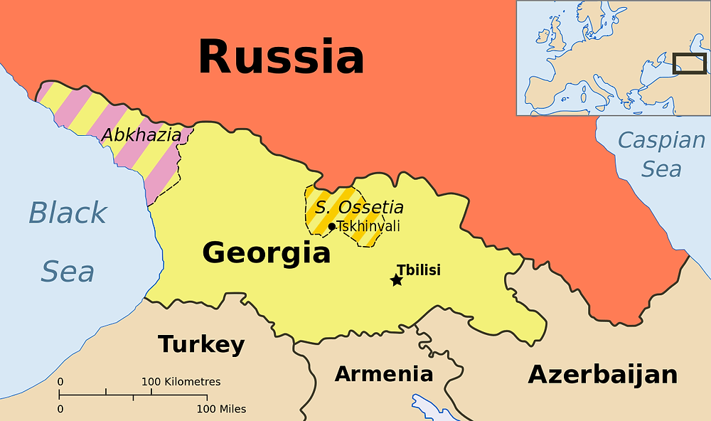 Map of Abkhazia & South Ossetia