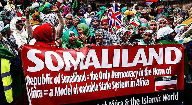 Somaliland independence protesters for democracy