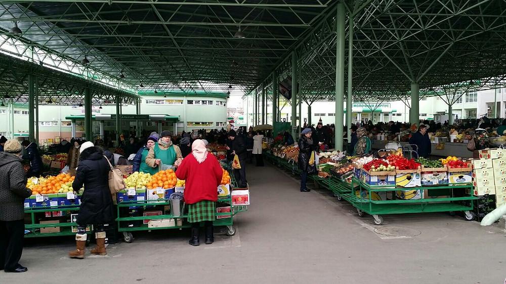 Zeleny Market in Tiraspol, Transnistria
