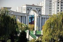 Picture of President Niyazov in Ashgabat