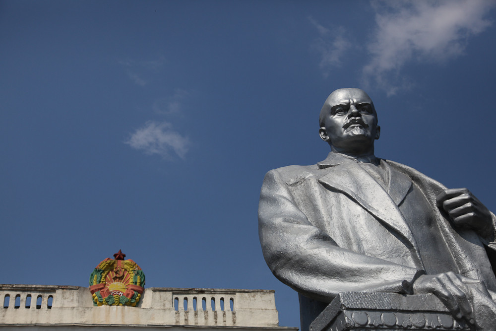 Statue of Vladimir Lenin in Transnistria. The unrecognized country is known as the last remnant of the Soviet Union (USSR).