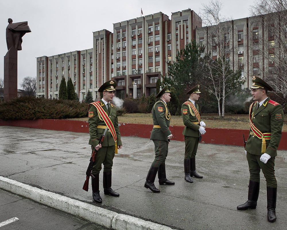 Soldiers in Tiraspol, Transnistria