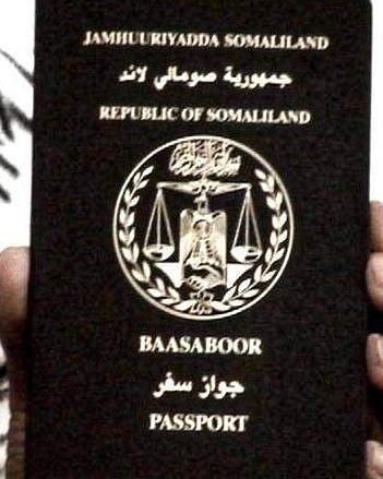 The passport of the unrecognized country of Somaliland.
