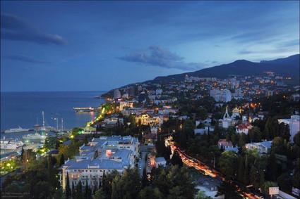 Dusk in Yalta