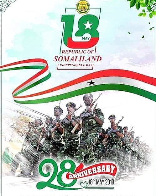 Somaliland Independence Sign with Soldiers