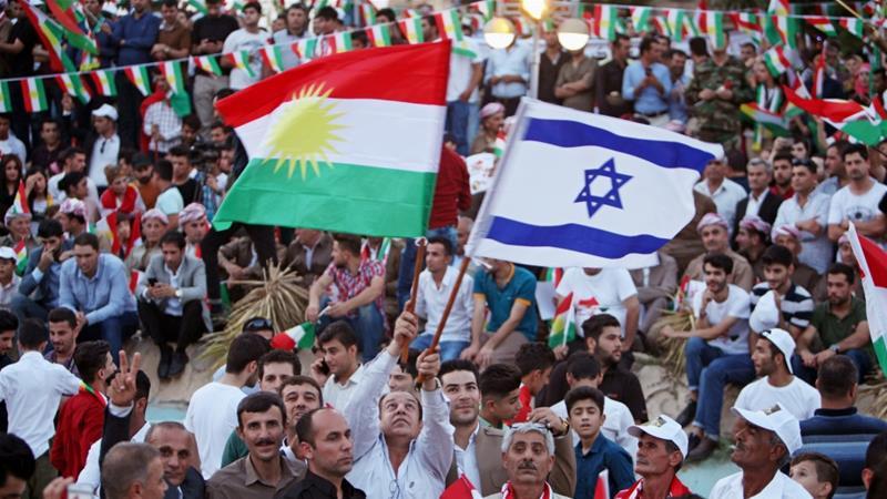 Israeli flags in Iraqi Kurdistan