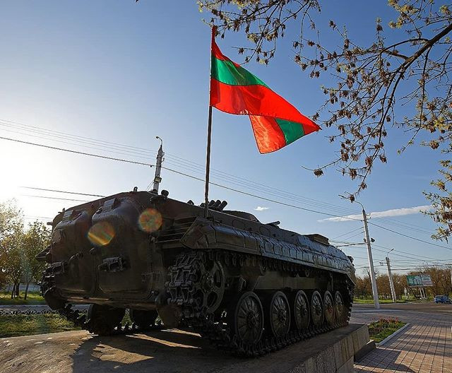 Tank monument in Transnistria