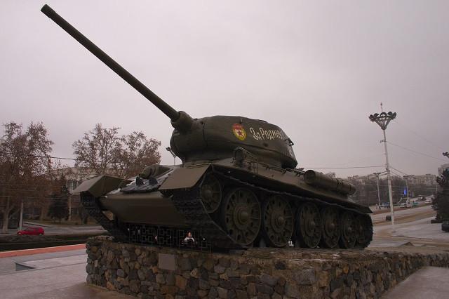 Soviet Tank Monument in Transnistria