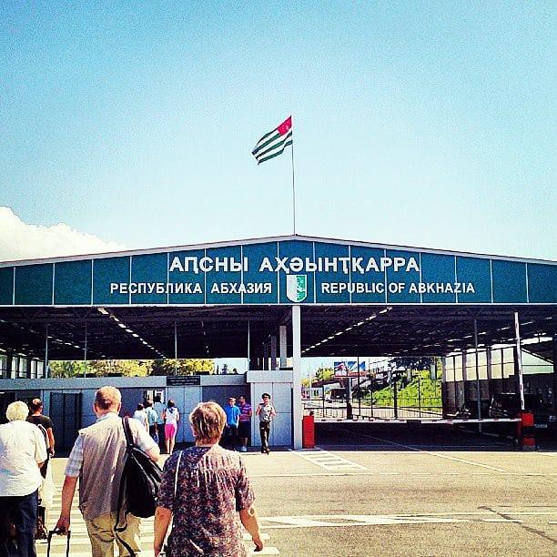 Border with Abkhaz Writing