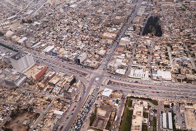 View of Erbil, the capital of Iraqi Kurdistan