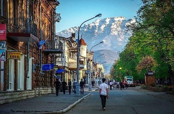 Vladikavkaz in North Ossetia