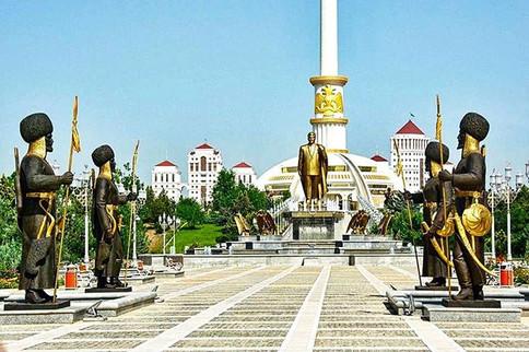 Niyazov Statue in Ashgabat