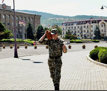 Soldier in Stepanakert