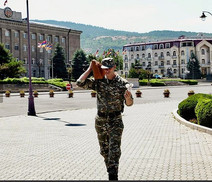 Soldier in Stepanakert