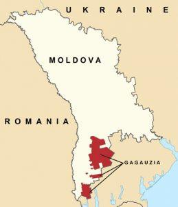 Map of Gagauzia