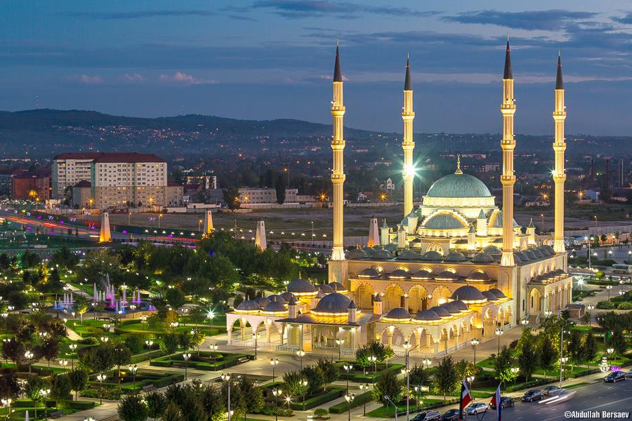 Mosque in Grozny, the capital of Chechnya